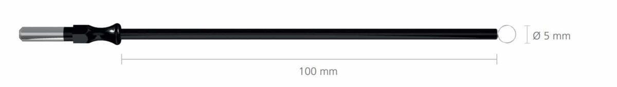 239-1 pętla zwykła 5 mm. do uchwytu 4 mm, dł. 100mm • Pętla długa • Uchwyt: 4 mm • Średnica pętli: Ø 5 mm