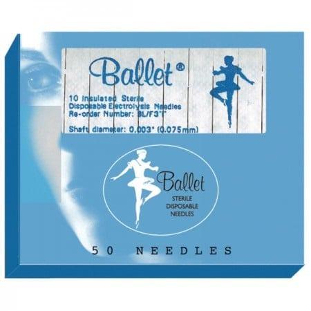 Igły Ballet izolowane F3I – blister 10 szt.