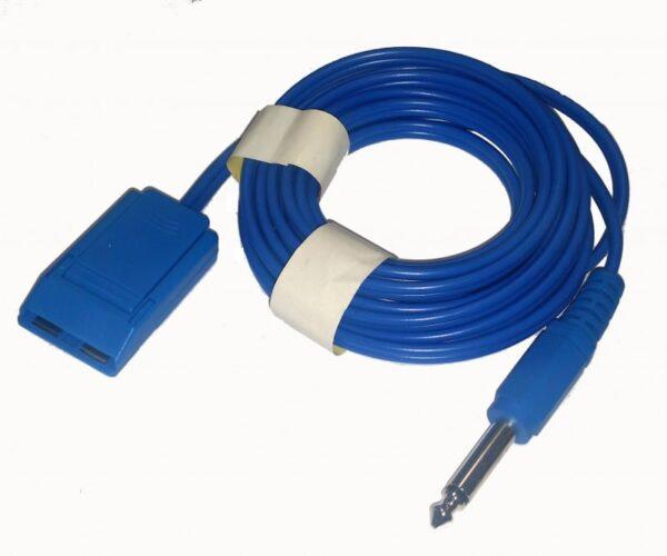 Kabel elektrody biernej jack 6,3 mm (Eltron) jednorazowej i stalowej