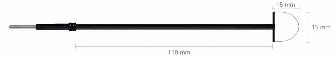 R-350-1 Półpętla LLETZ 15x15mm, do uchwytu 2,4mm, długość 110 mm • Półpętla długa • Uchwyt: 2,4 mm • Wymiary półpętli: 15 x 15 mm